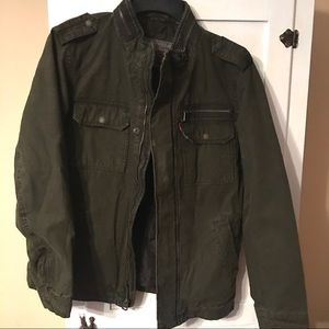 Levi's Stand Collar Military Jacket Army Green XXL